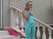 Amazing Blonde Showing Her Camel Toe (HD)