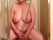 MarieRocks MILF gets off in the shower shooting water at clit