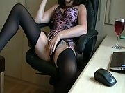 Playing in Office Chair With Some of My Toys