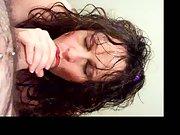 cock swallowing slut pov style blowjob on camera