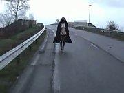 Flashing on an bridge