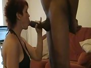 British whore milf with two very hard cocks performing on webcam