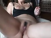 Wife in lust creampied by stranger