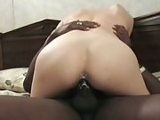 White milf pussy creaming all over black cock sending her to heaven