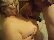 after we had good sex he cam on my tits