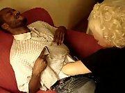 Mature Interracial Blowjob Cuck Husband Films Wife With Black Friend