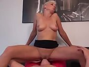 Horny mom in need of some loving gets her man up