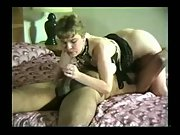 Slut wife sucking a BBC in a 69 position interracial amateur porn vid