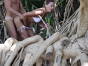 Daring outdoor sex by the beach for horny couple