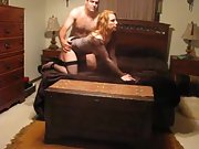 A sexy redhead wife named Sally having fun with hubby