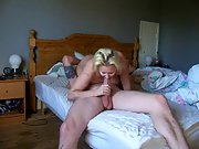 Busty mommy takes care of her son's horny friend
