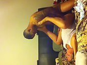 Blonde milf going black with tattooed stud from down next door