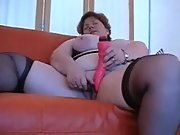 Chris44g Stockings and suspenders bbw masturbating with sex toy