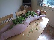Slutty wife wearing Salad Dressing