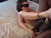 Brunette BBC whore getting pummelled by a black bull