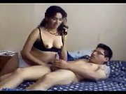 A Young Couple Making Love For Camera and the girl has an orgasm