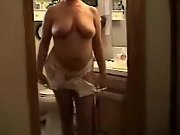 Sexy Mature Wife Strips For All Removing White Lingerie